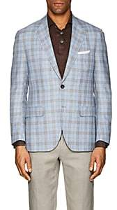 Sartorio Men's PG Plaid Wool-Blend Two-Button Sportcoat-Blue