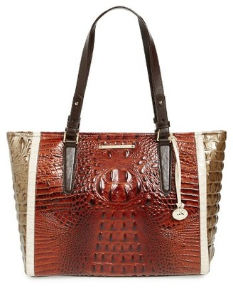 Brahmin Medium Arno Leather Shopper - Brown $295 thestylecure.com