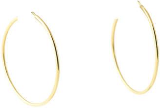 One Kings Lane Vintage 18K Gold Hoop Earrings - Owl's Roost Antiques
