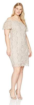Tiana B Women's Plus Size lace Short Sleeve Dress