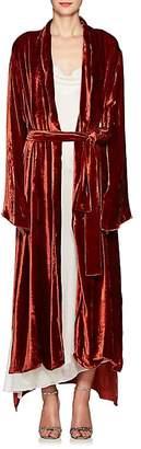Juan Carlos Obando Women's Velvet Shawl Lapel Robe