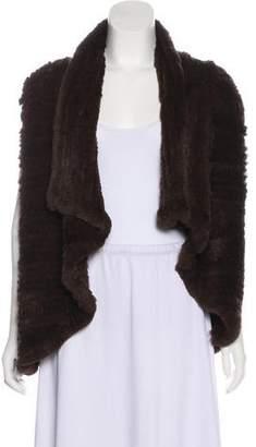 Alice + Olivia Fur Open Front Vest