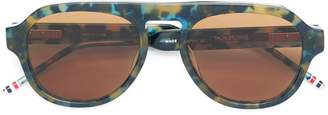 Thom Browne Eyewear printed aviator sunglasses