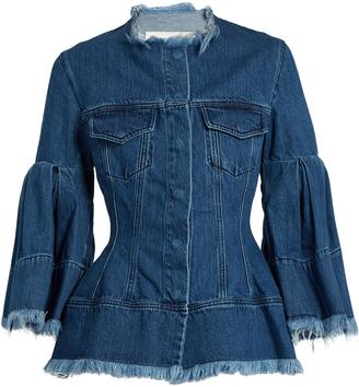 MARQUES'ALMEIDA Frayed-edge denim jacket