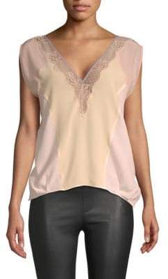 Zadig & Voltaire Trixy Lace Silk Top