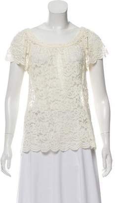 Diane von Furstenberg Lace Short Sleeve Top