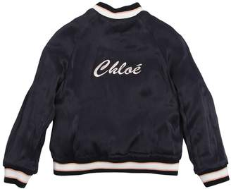 Chloé Reversible Satin Bomber Jacket