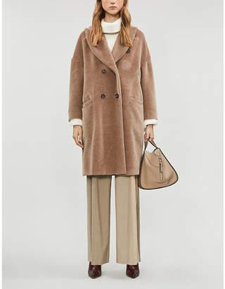 Brunello Cucinelli Double-breasted alpaca and virgin wool coat
