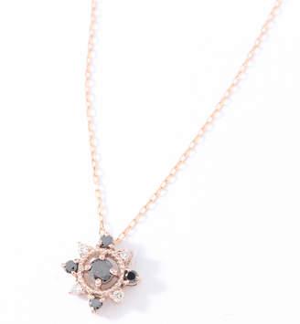 cui-cui (キュイキュイ) - キュイキュイ K10PG ブラックダイヤ&ダイヤ ネックレス