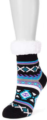 Muk Luks Fluffy Cabin Socks 1 Pair Boot Socks - Womens