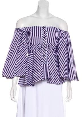 Teija Striped Off-The-Shoulder Blouse w/ Tags