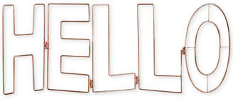 Graham & Brown Rose Gold Hello Wall Art