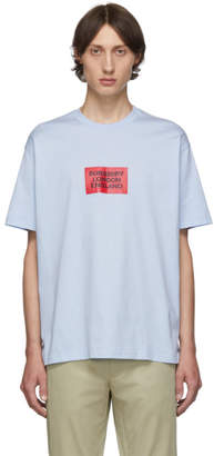 Burberry Blue Fenson Square Logo T-Shirt