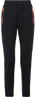Prada Leather-trimmed Cotton-blend Jersey Track Pants