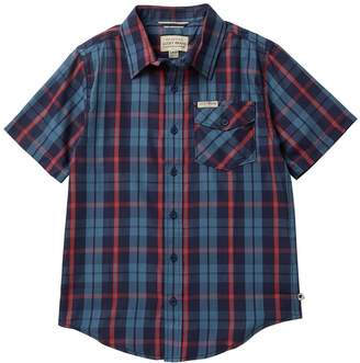 Lucky Brand Short Sleeve Plaid Shirt (Big Boys)