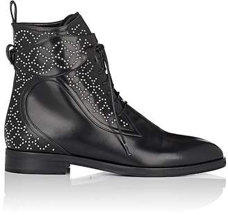 Alaia Women's Studded Leather Lace-Up Ankle Boots