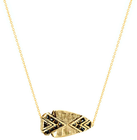 House of Harlow Arrowhead Pave Necklace
