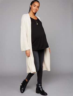 A Pea in the Pod Cupcakes And Cashmere Heavy Knit Belted Duster Maternity Coat
