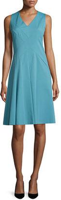 Lafayette 148 New York Emery Sleeveless V-Neck Dress $548 thestylecure.com
