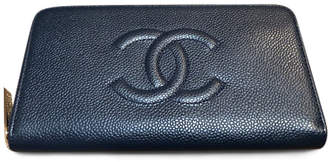 Chanel Timeless Zip Long Wallet Caviar Navy