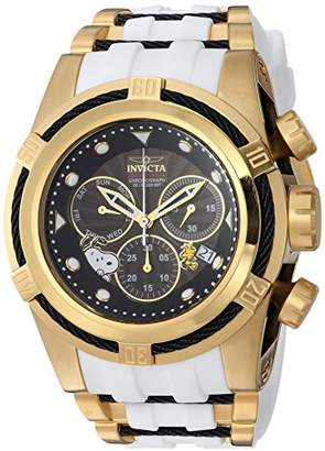 Invicta Men's 'Character Collection' Quartz Gold-Tone and Silicone Casual Watch