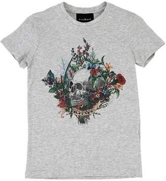 John Richmond Skull Print Cotton Jersey T-Shirt