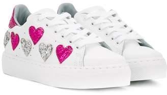 Chiara Ferragni Kids glitter heart sneakers