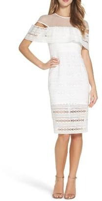Women's Bardot Lace Midi Dress $129 thestylecure.com