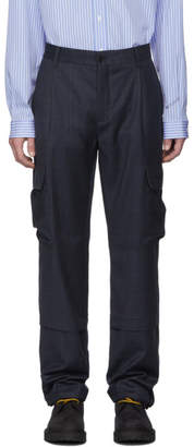 Vetements Navy Check Cargo Pants