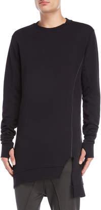 Thom/Krom Asymmetric Hem Pullover Sweatshirt