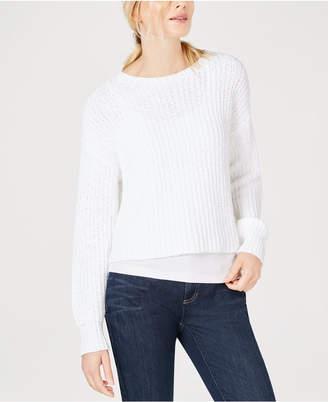 Eileen Fisher Organic Cotton Scoop-Neck Sweater, Regular & Petite