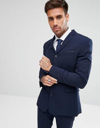 Asos Design DESIGN super skinny four button suit jacket in navy