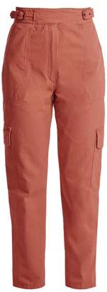 Rachel Comey Roam High Rise Straight Leg Cargo Trousers - Womens - Light Red