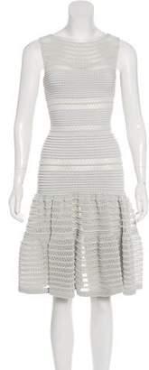 Alaia Fit & Flare Midi Dress