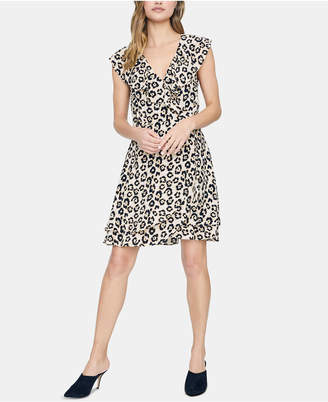 69f59d14f0 Sanctuary Johanna Leopard Printed Wrap Dress