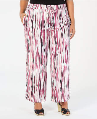 JM Collection Plus Size Printed Pants, Created for Macy's