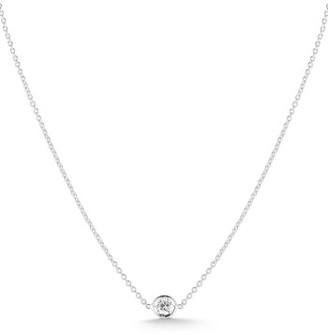 Women's Roberto Coin Tiny Treasures Diamond Bezel Necklace $700 thestylecure.com