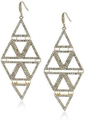 "ABS by Allen Schwartz Black and "" Pyramid Drop Earrings"