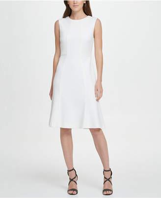 DKNY A-Line with Flounce Hem Dress