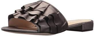 Nine West Women's IVARENE Satin Luxe Flat Sandal