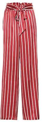 Asceno Striped wide-leg silk pajama pants