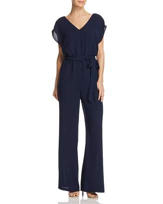 Adrianna Papell Belted Wide-Leg Jumpsuit