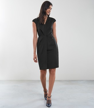 Reiss HARPER DRESS TAILORED DRESS Black