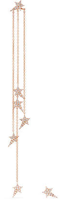 Diane Kordas Star 18-karat Rose Gold Diamond Earrings