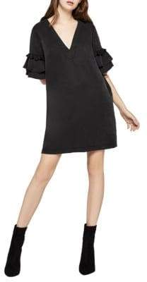 BCBGeneration Tassel-Trimmed Shift Dress