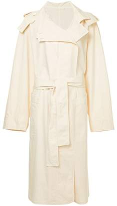 Lemaire hooded trench coat
