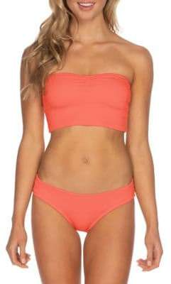 29d328fbe0d99 Isabella Collection Rose Ribbed Tube Bikini Top