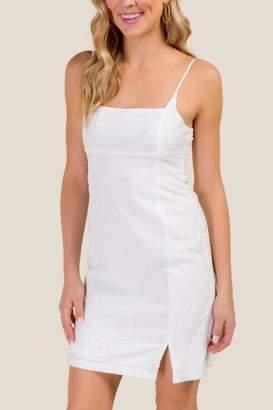 francesca's Viviana Square Neck Fitted Dress - Ivory