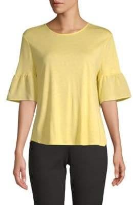 St. John Bell-Sleeve Blouse