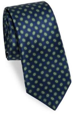 Kiton Silk Oval-Print Tie